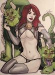Goblin Queen with her Pet Hounds by Rvalenzuela80