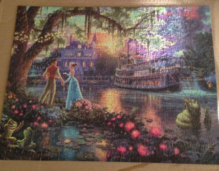 The Princess and The Frog: Thomas Kinkade Puzzle by TheDisneyGoof