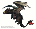 Toothless Watercolor by Amphibizzy
