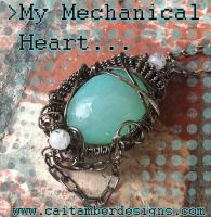My Mechanical Heart Pendant by tanyquil