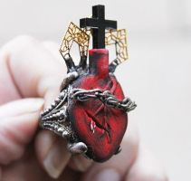 Sacred Heart Sculpted Ring by asunder