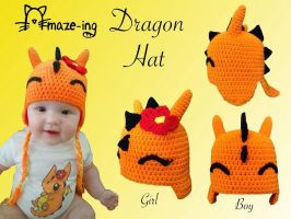 Baby Dragon Hat by Amaze-ingHats