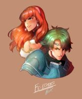 Fire Emblem Echoes: Celica and Alm by Billiam-X