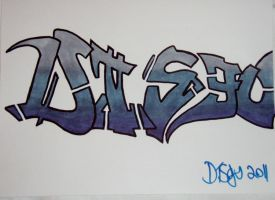Old skool style marker piece by disgo04