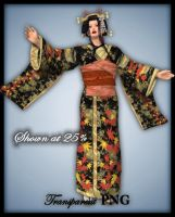 Autumn Geisha-Figure Stock by shd-stock