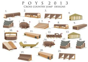 POYS 2013 Cross Country jump designs by Episkeeyy
