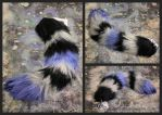 Blue Coon Yarn Tail by EvlonArts