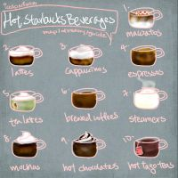 How to order at Starbucks - Hot beverages and FAQ by icedparfait