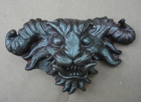 Demon head buckle by missmonster