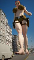 Cassie Croft 300ft 5 by Tiny-Mk by Giantess-Cassie
