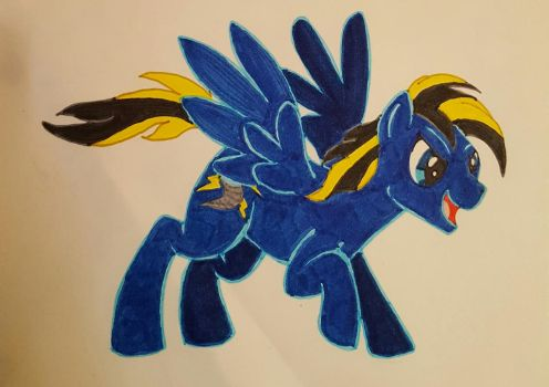 Nightstorm, ready for action! by DarkwingDrake