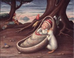 The sleeping baby by perodog