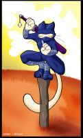Ninja Cat 2 by AarowSwift