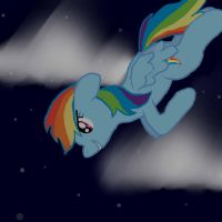 Rainbow Dash Night Diving by RogueLament