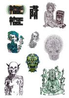 A4 Street Art Stickers by GraphicsFix