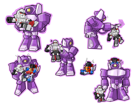 Shockwave and Babes by Megalorvi