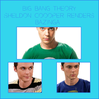 Render Pack: The Big Bang Theory Sheldon Cooper by HappyFaceStar