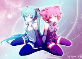 Miku And Teto Shine by MyVampireLullaby
