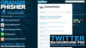 Twitter Background PSD by GrahamPhisherDotCom