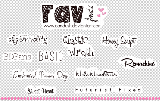 FavFont's by Candush