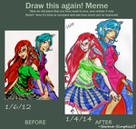 Before and After Meme: Usaki and Marcella by Serene-SimpliciT