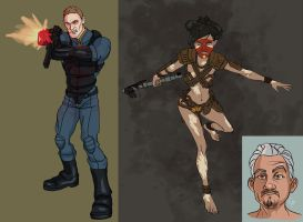 Fallout  Character Sketches by CamBoy
