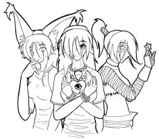 The 3 Version of me XP by lil-creeper