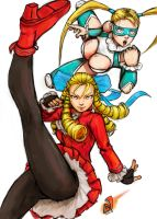 Karin and Mika SF5 Fanart by AlivanArt