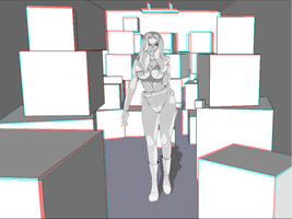 Mia in space:) 3D by Inusen
