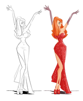 Jessica Rabbit for art jam by jwebsterart
