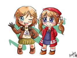 North American sisters by Amphany
