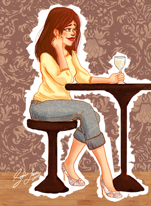 COMMISSION: Alexis - Wine Time by sophatizer