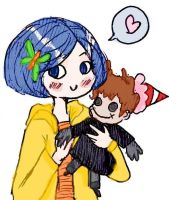 Coraline and doll by superlucky13