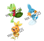Pokemon Omega Ruby and Alpha Sapphire Starters by Mjicarly225