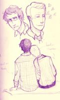 Welcome to Night Vale: Cecil and Carlos by adlibber