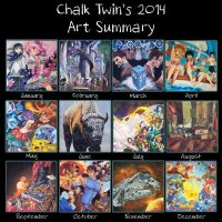 Art Summary 2014 by ChalkTwins