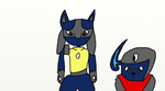 Wolf the Absol and Erzi the Lucario 2 by Wolf-The-Absol