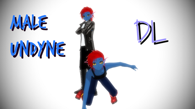 MMD Undertale Male Undyne (DL) by Foxvinny-art