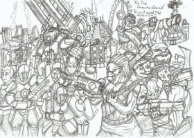 Kroot and Tau Stands as One by ChaosMarine562