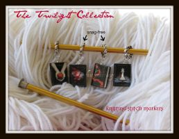 Twilight Book Stitch Markers by maryfaithpeace