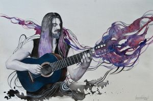 The guitarist by VeroFalcioniArt