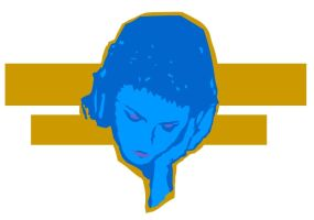 BLUE DJ STENCIL VECTOR by exell