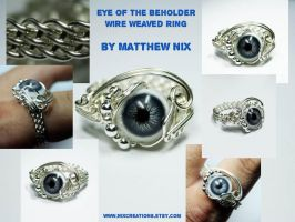 Eye of the Beholder Wire Ring by Create-A-Pendant
