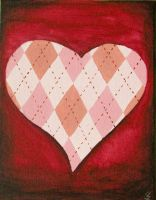 Argyle Heart: Red by ThatSouthpawChick