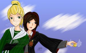 Glee-HP: Faberry - Flying by agent-ayu