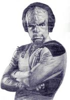 Worf in pencil. - thorr by twotonearmy