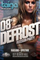 Poster Defrost Party by taigapromo.com by sounddecor