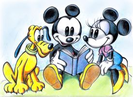 Mickey,  Minnie,  Pluto by zdrer456
