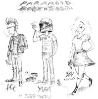 the PARANOID ROCK N ROLL crew by AtariPunk633