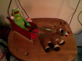 Kermit's Sleigh by JudgeChaos